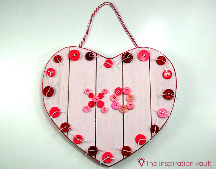 Rustic Button Valentines Heart Complete2