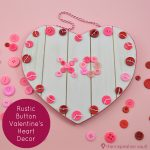 Rustic Button Valentine's Heart