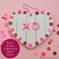 Rustic Button Valentines Heart Feature