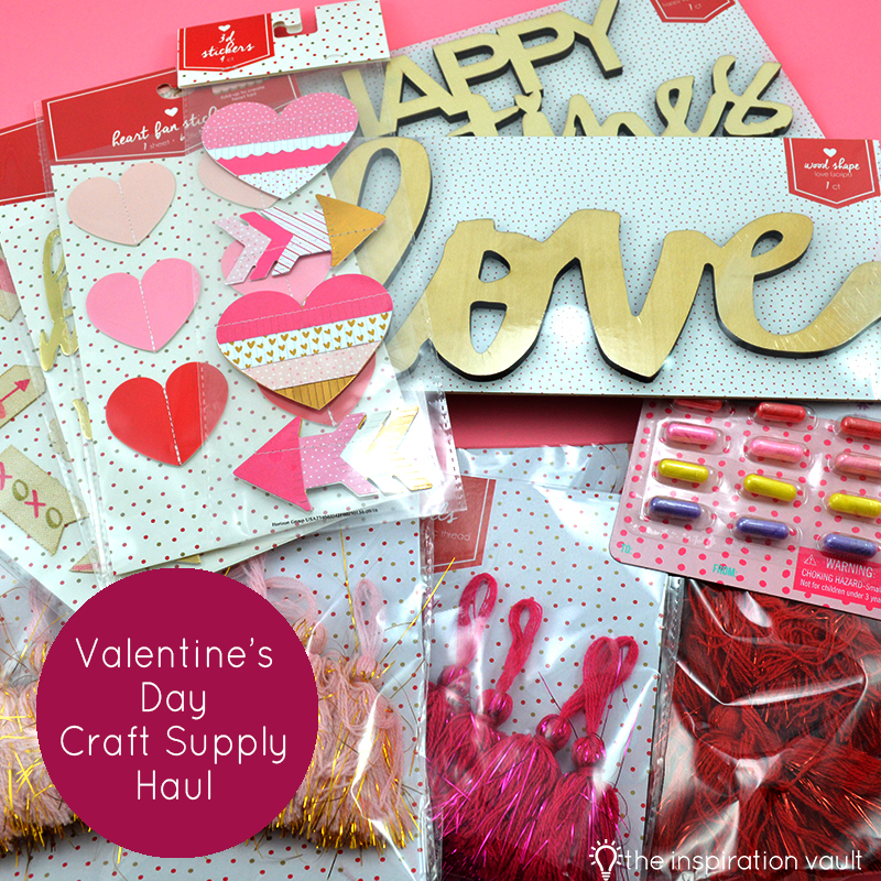 Valentine's Day Craft Supply Haul Feature