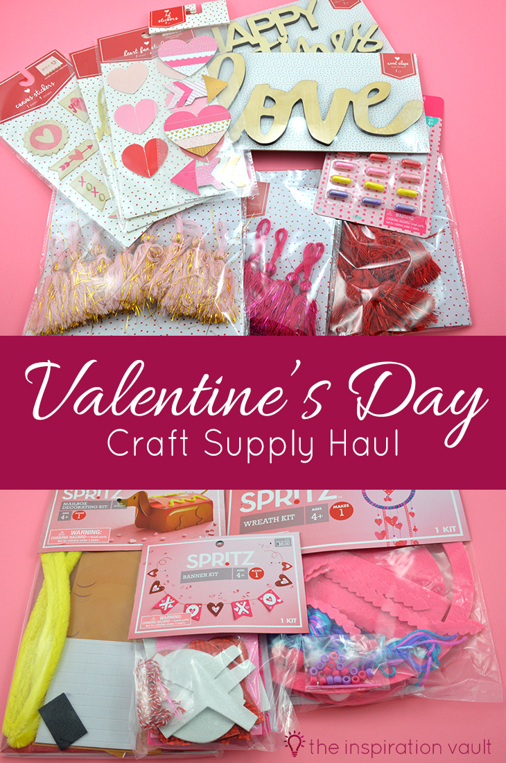 Valentine's Day Craft Supply Haul Video and Photos of What Target Has to Offer