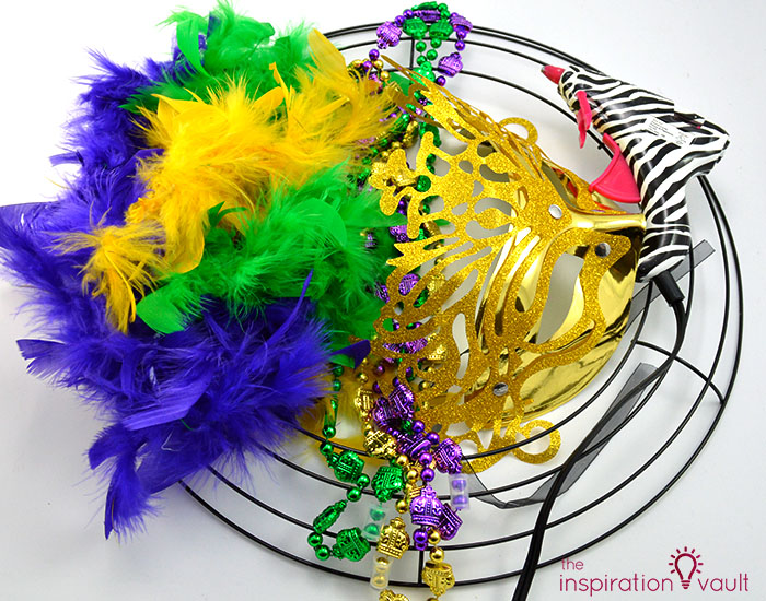 Easy & Thrifty Mardi Gras Wreath Materials