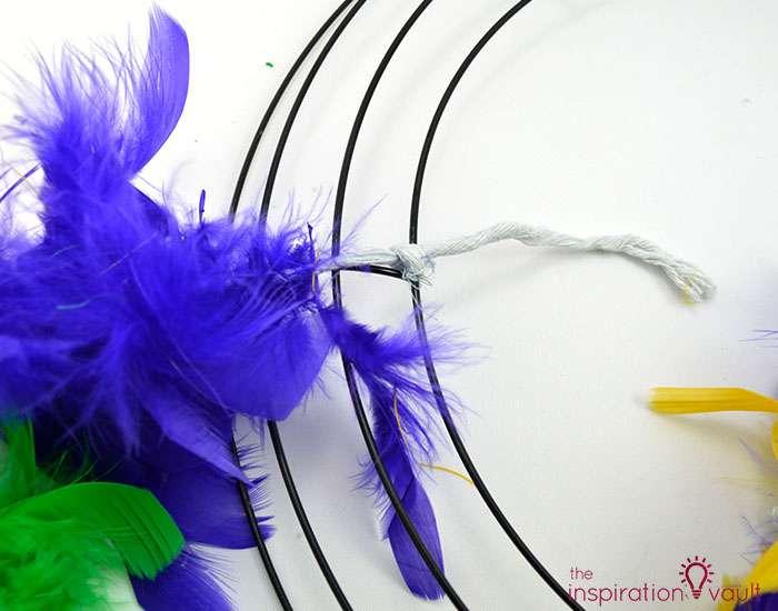 Easy & Thrifty Mardi Gras Wreath Step 1