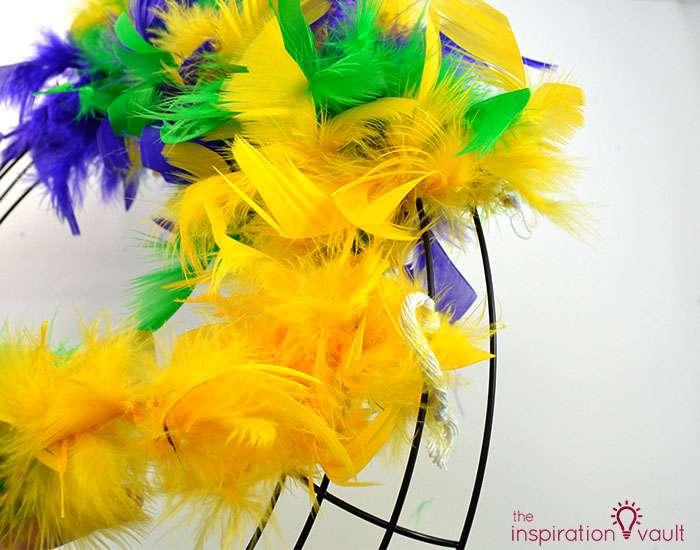 Easy & Thrifty Mardi Gras Wreath Step 2