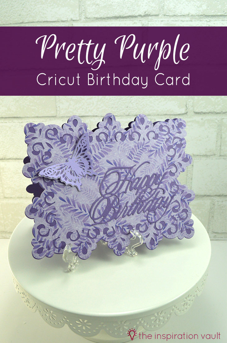 Pretty Purple Cricut Birthday Card Butterfly Handmade Paper Craft Tutorial