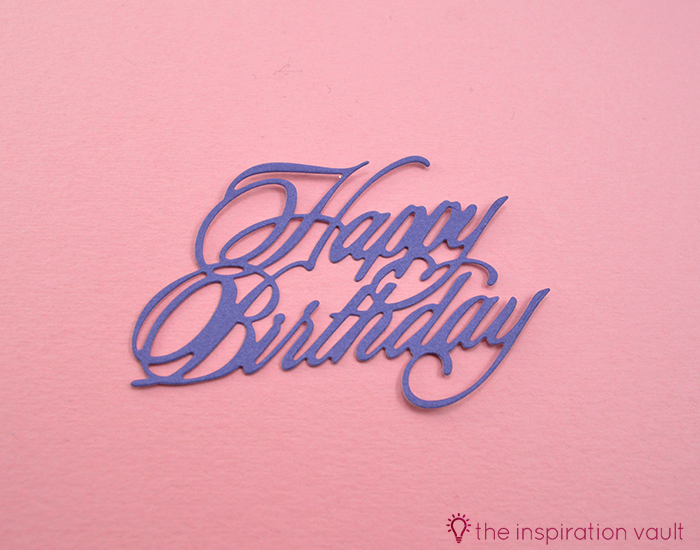 Pretty Purple Cricut Birthday Card Step 13b