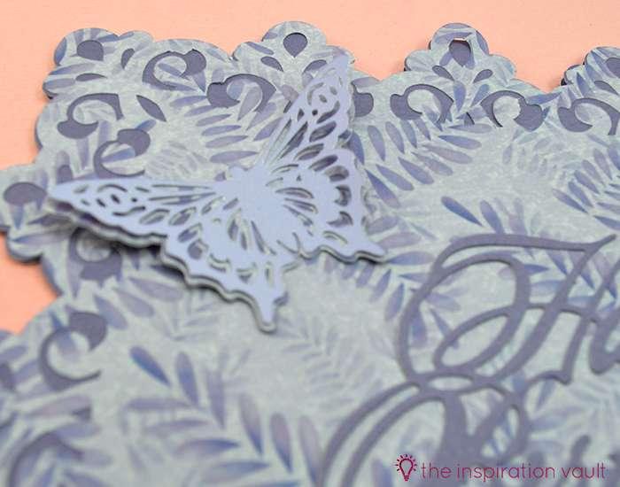 Pretty Purple Cricut Birthday Card Step 17b