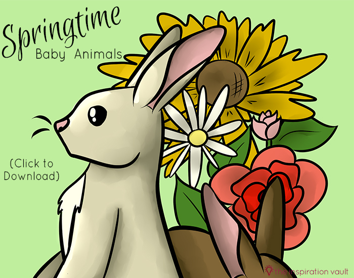 Springtime Baby Animals Coloring Pages Cover
