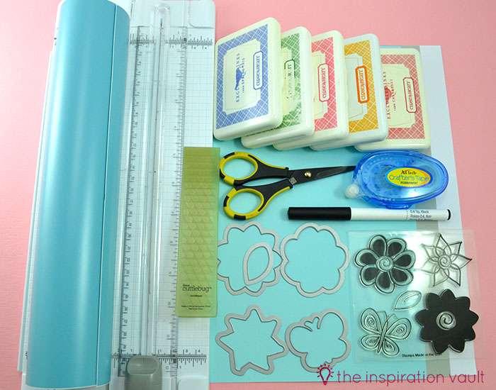 Bambi Inspired April Showers Handmade Card Materials