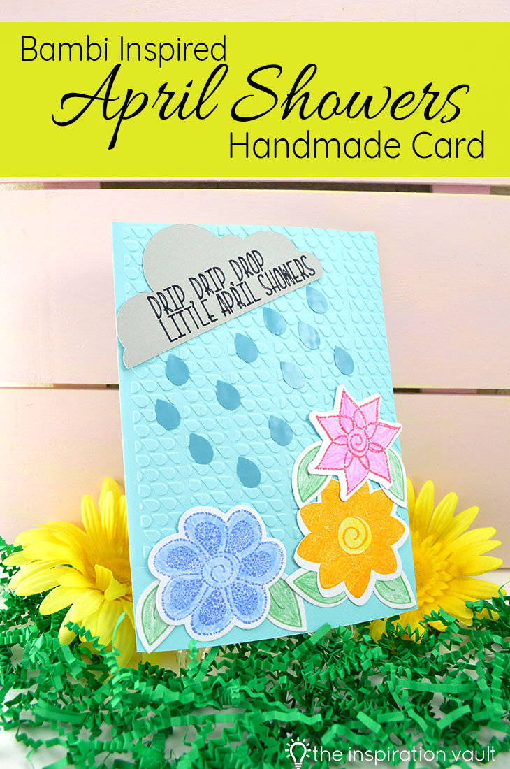 Bambi Inspired April Showers Handmade Card Papercrafts Spring Craft Tutorial