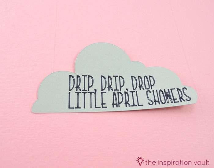 Bambi Inspired April Showers Handmade Card Step 3c