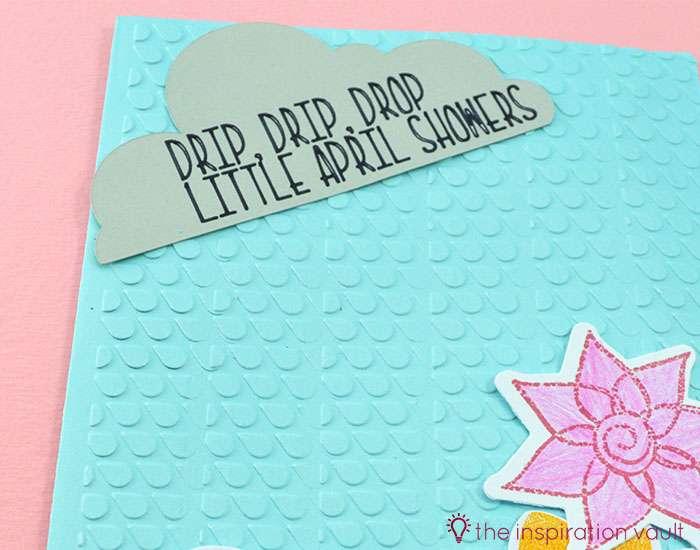 Bambi Inspired April Showers Handmade Card Step 7