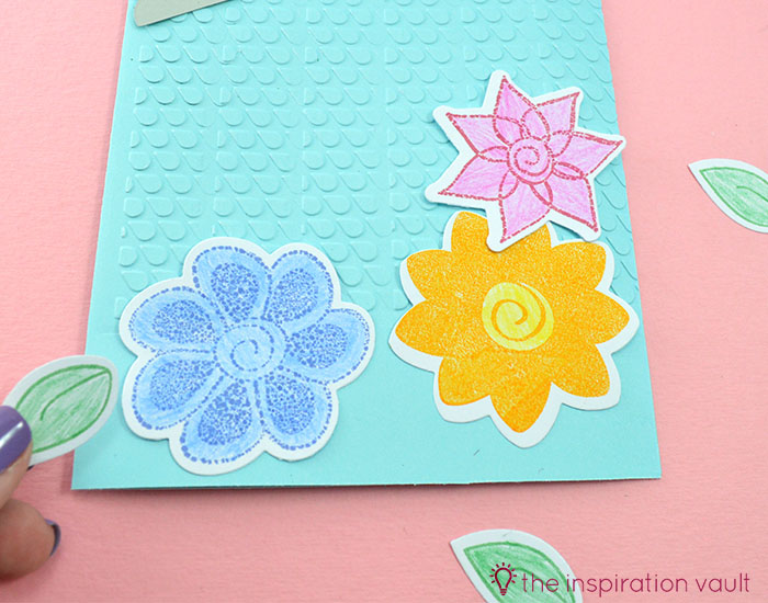 Bambi Inspired April Showers Handmade Card Step 8a