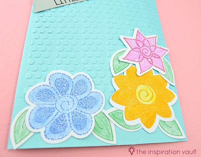 Bambi Inspired April Showers Handmade Card Step 8b