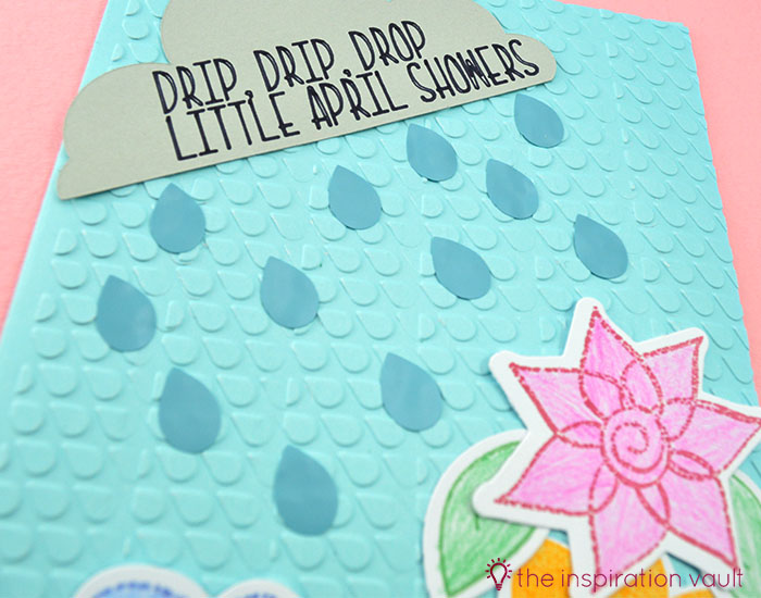 Bambi Inspired April Showers Handmade Card Step 9b