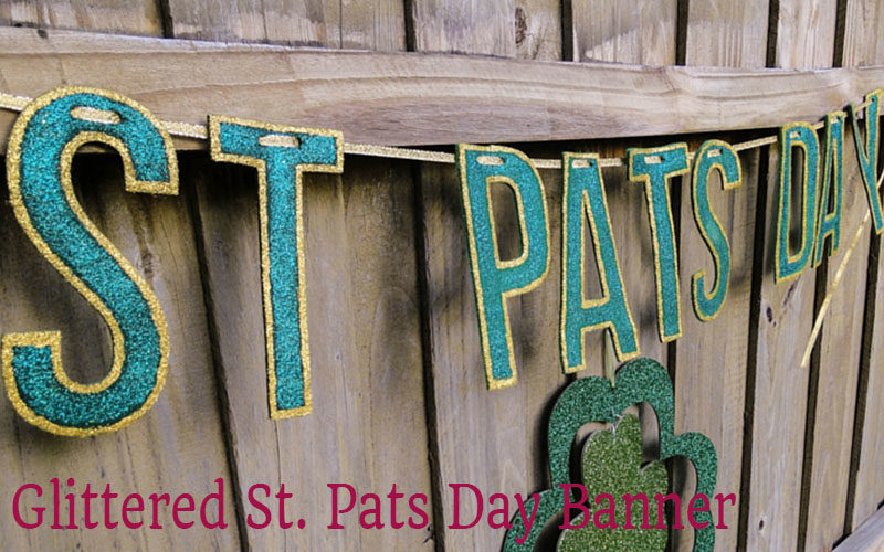 Glittered St Pats Day Banner
