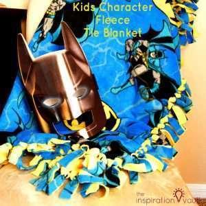 Kids Character Fleece Tie Blanket Feature