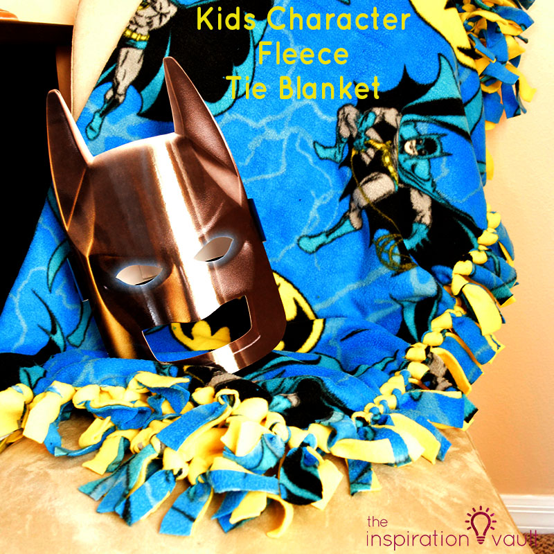 Kids Character Fleece Tie Blanket Feature