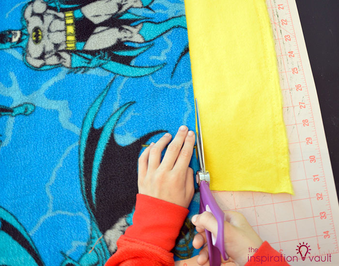 Kids Character Fleece Tie Blanket Step 2a