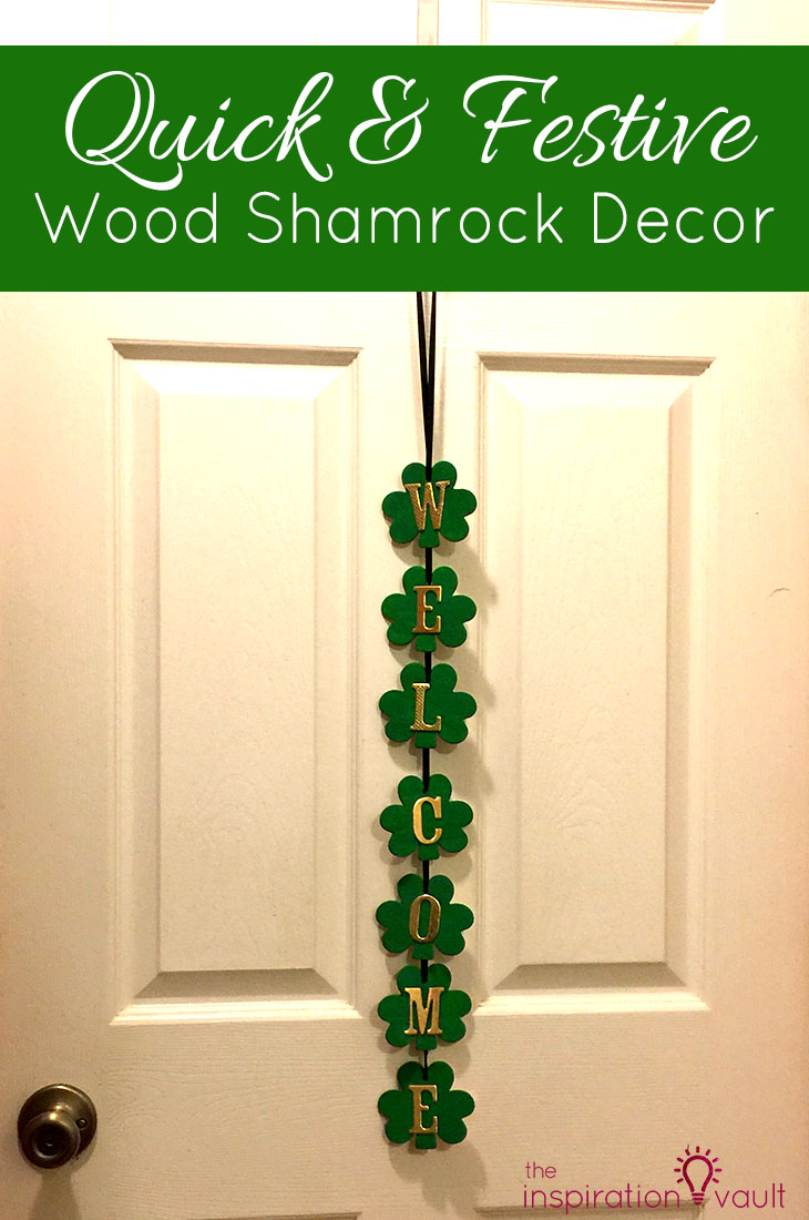 Quick & Festive Wood Shamrock Decor St. Patrick's Day Craft Tutorial