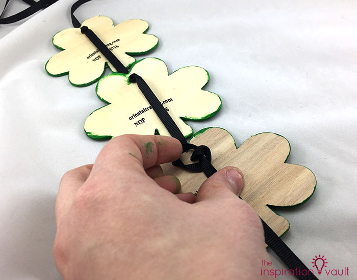 Quick & Festive Wood Shamrock Decor Step 5c
