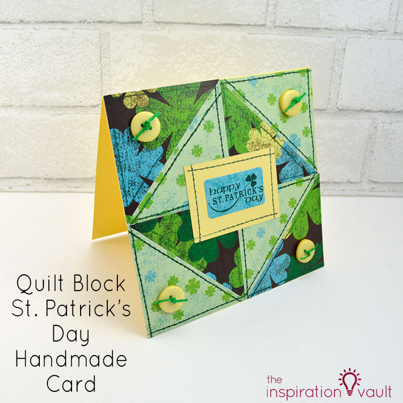 Quilt Block St. Patrick's Day Handmade Card Feature