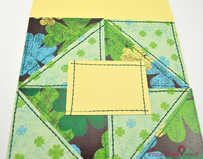 Quilt Block St. Patrick's Day Handmade Card Step 10a