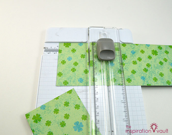 Quilt Block St. Patrick's Day Handmade Card Step 2a