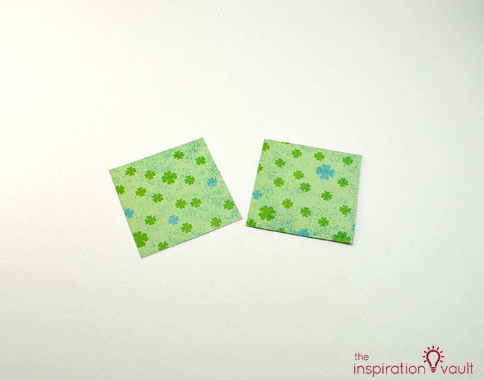 Quilt Block St. Patrick's Day Handmade Card Step 2b