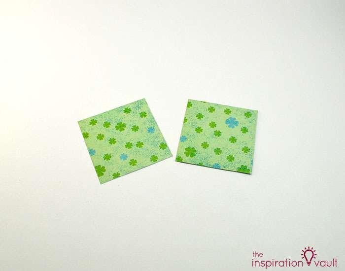 Quilt Block St. Patrick's Day Handmade Card Step 2b