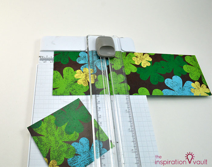 Quilt Block St. Patrick's Day Handmade Card Step 3a