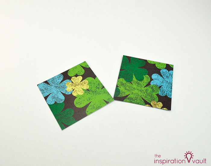 Quilt Block St. Patrick's Day Handmade Card Step 3b