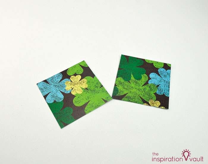 Quilt Block St. Patrick's Day Handmade Card Step 3b