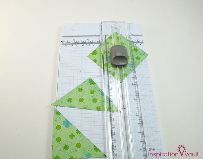 Quilt Block St. Patrick's Day Handmade Card Step 4a