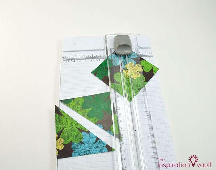 Quilt Block St. Patrick's Day Handmade Card Step 4b