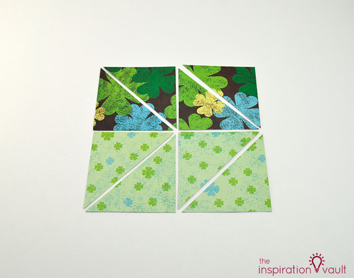 Quilt Block St. Patrick's Day Handmade Card Step 4c