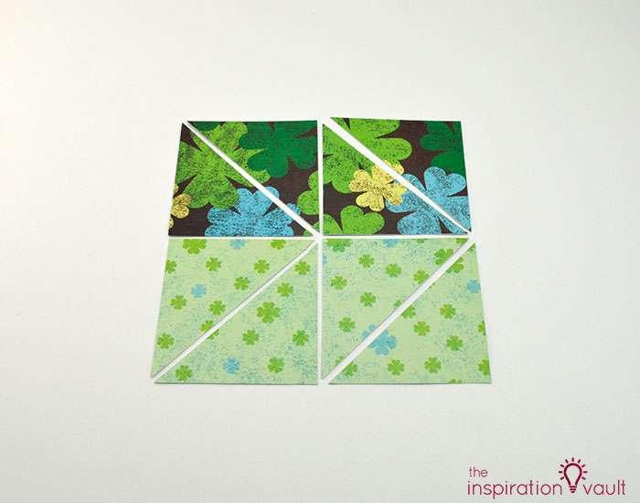 Quilt Block St. Patrick's Day Handmade Card Step 4c
