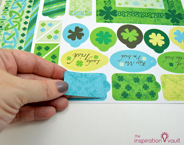 Quilt Block St. Patrick's Day Handmade Card Step 6a