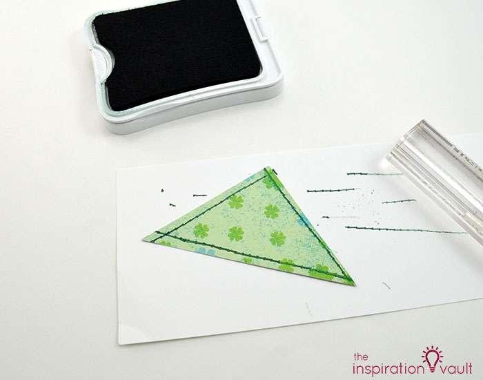 Quilt Block St. Patrick's Day Handmade Card Step 8b