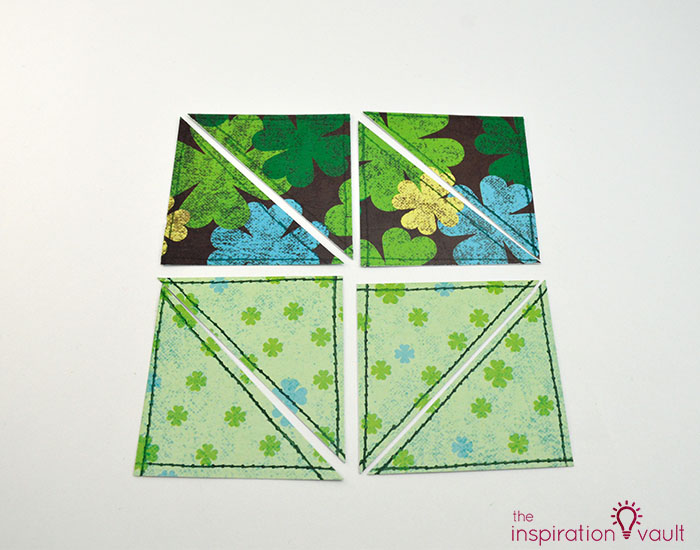 Quilt Block St. Patrick's Day Handmade Card Step 8c