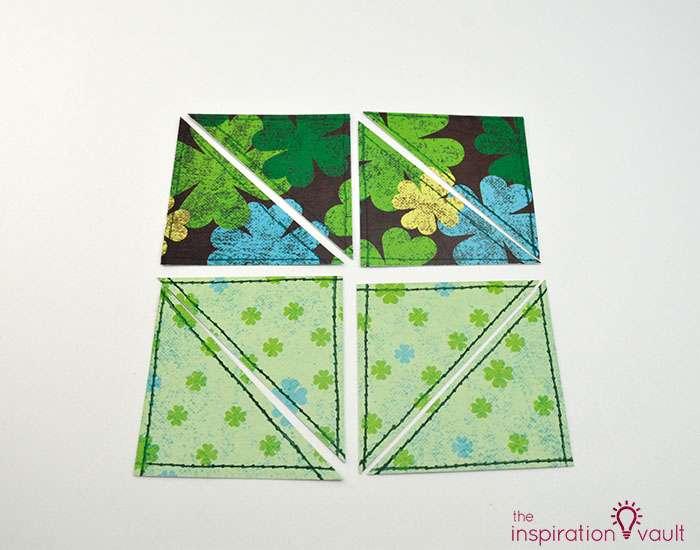 Quilt Block St. Patrick's Day Handmade Card Step 8c