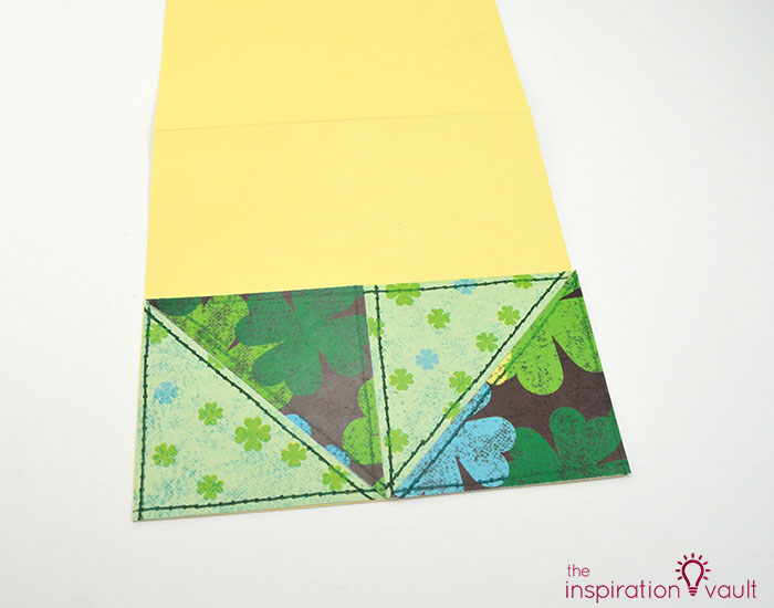 Quilt Block St. Patrick's Day Handmade Card Step 9b