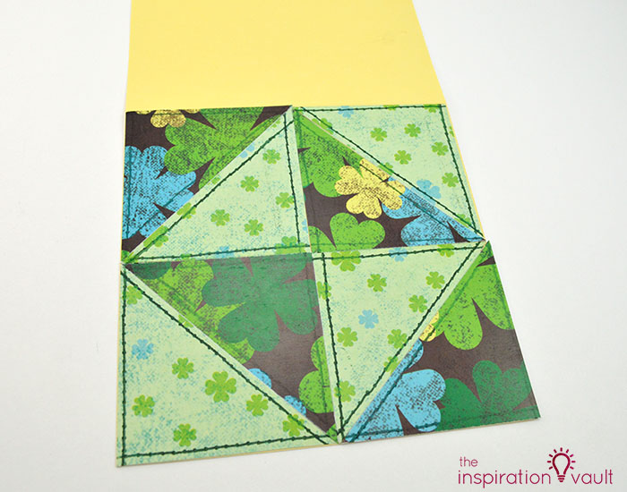 Quilt Block St. Patrick's Day Handmade Card Step 9c