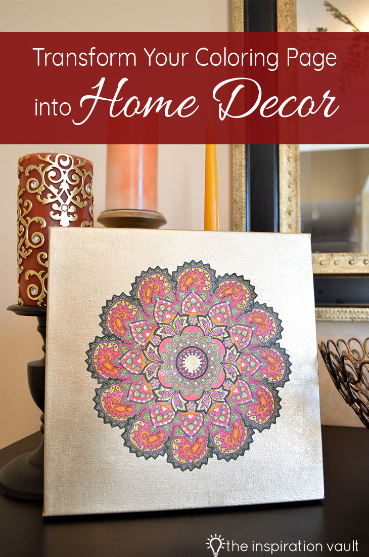 Transform Your Coloring Page into Home Decor DIY Craft Tutorial