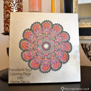 Transform Your Coloring Page into Home Decor Feature
