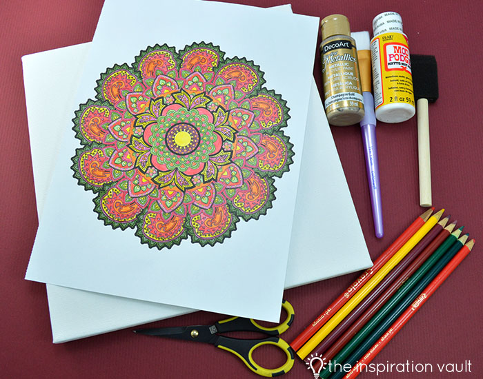 Transform Your Coloring Page into Home Decor Materials