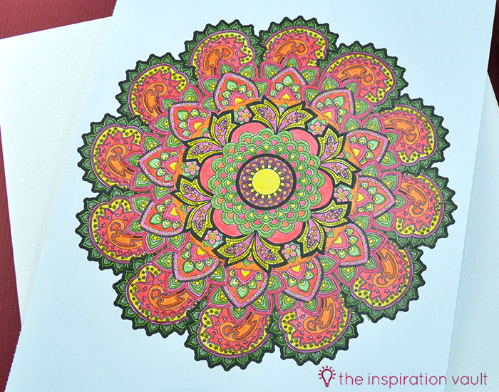 Transform Your Coloring Page into Home Decor Step 2