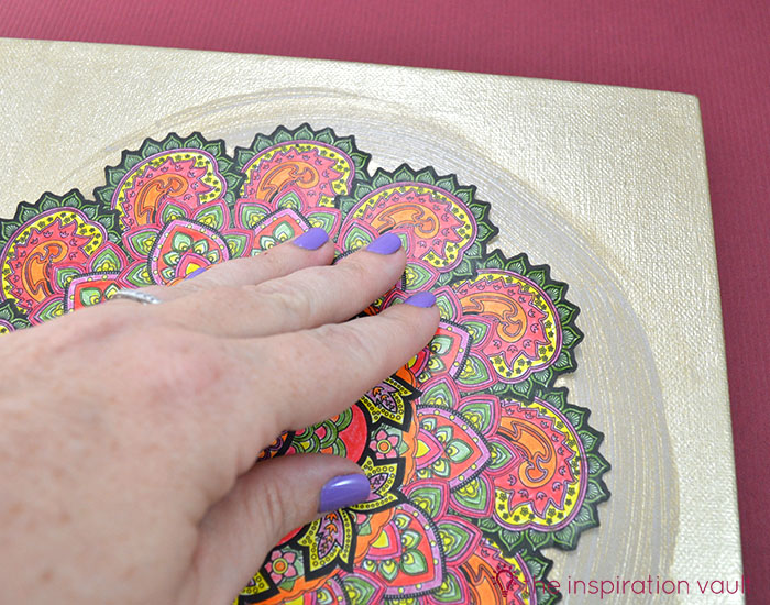 Transform Your Coloring Page into Home Decor Step 5