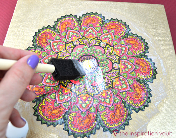 Transform Your Coloring Page into Home Decor Step 6