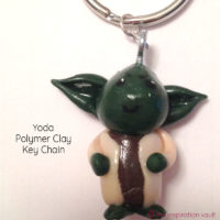 Yoda Polymer Clay Key Chain Feature